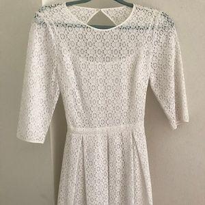 Rebecca Minkoff Open Back Lacey Dress - White